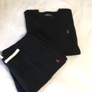 Men's RL Polo Black Sweatshirt Size Large